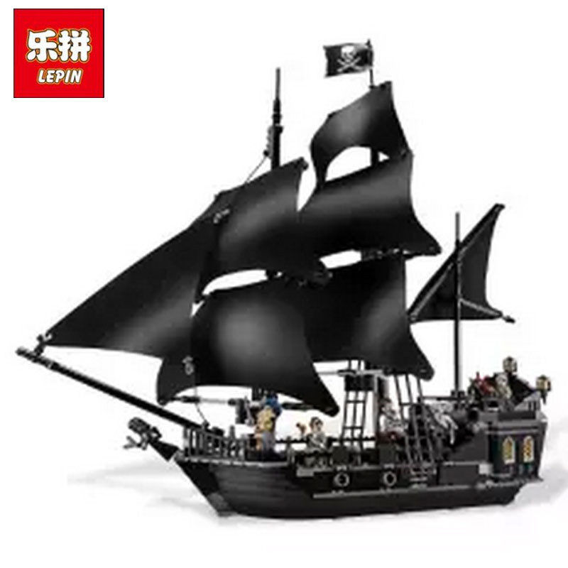 804pcs LEPIN 16006 Pirates of the Caribbean The Black Pearl Building Blocks Set 4184 Lovely Educational BoyToy For Children Game kazi 608pcs pirates armada flagship building blocks brinquedos caribbean warship sets the black pearl compatible with bricks