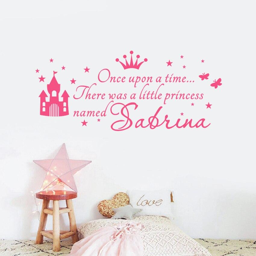 ASAPFOR Custom Princess Name Decals Wall Sticker For Kids ...