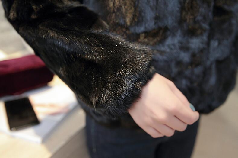 Naturel Fourrure Détail Qualité Véritable Manteau Veste Avec Vison Bonne Usine Sr215 Big De Luxe Fox Col RawrRBq