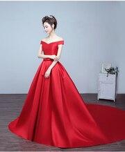 Robe de soriee Neue Heiße Verkauf Weg Von der Schulter Prom Kleider Lange 2017 bogen Schärpe Roten Abendkleid für festa vestidos de para festa