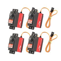 4Pcs JX PDI-6221MG 6221MG 23KG Large Torque Digital Standard Servo For RC Model TRAXXAS Baja Car Helicopter Airplane Boat