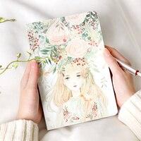 HighPoint Chihiro corona chica libro libros página en blanco mano hermosa de graffiti pintado a mano el dibujo papelería diario de tapa dura