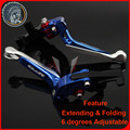 New Adjustable Foldable Extendable Motorbike Brakes Clutch CNC Levers For SUZUKI GSR 750 11-14, GSR 600 06-11, GSR 400 08-12 1#