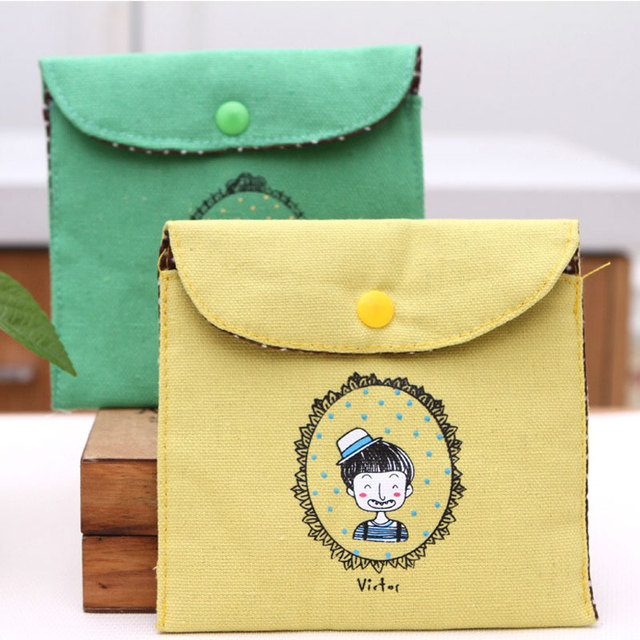 wulekue Cartoon Cotton Snap the wallet purse card wallet For kids