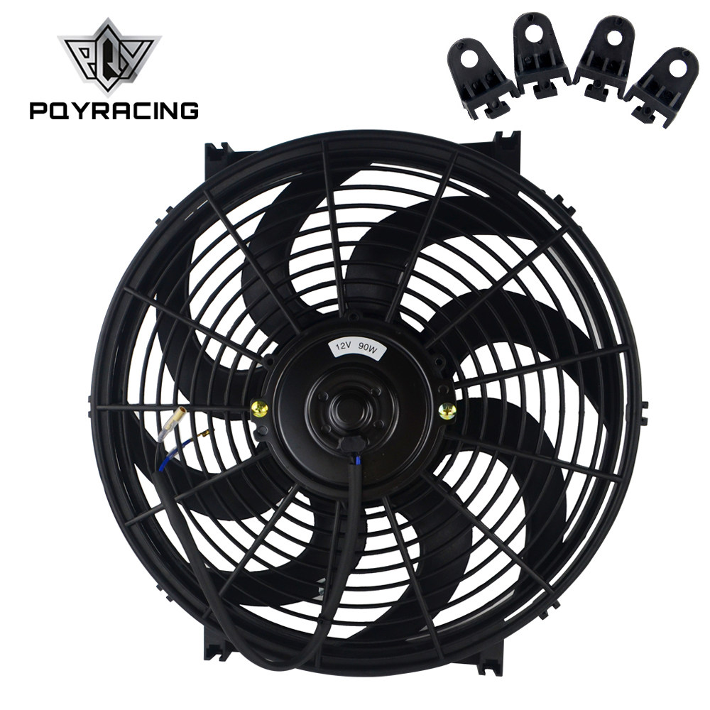 """14/"""" 12V Slim Radiator Cooling Thermo Fan with Mounting kit 14 inch universal fan"""