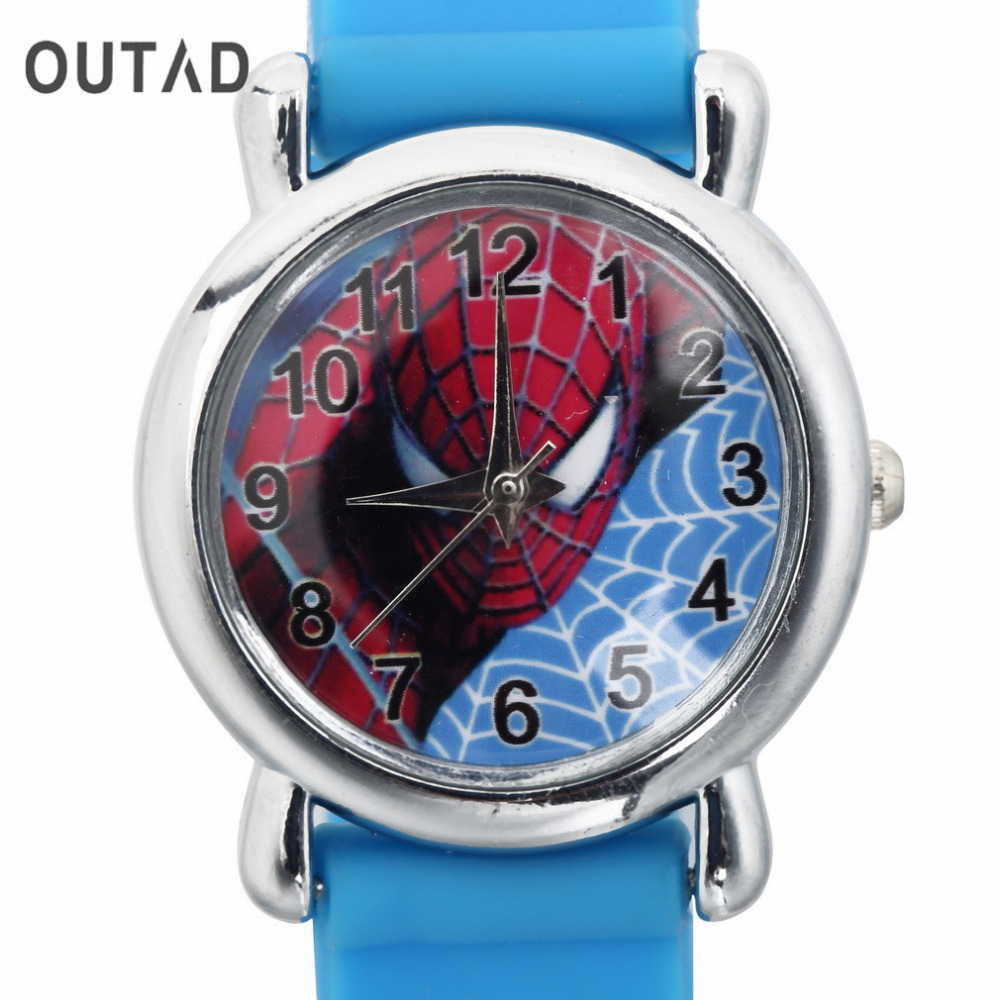 1PC Dark Blue Wrist Watch 3D Cartoon Silicone Childrens Boys Sports Cool Quartz Casual Watches Cool Gift