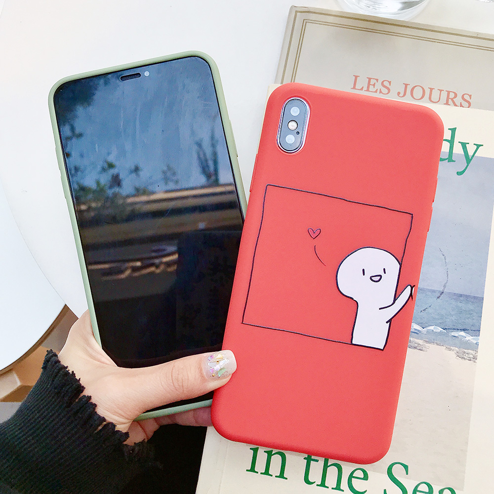 KIPX1076_3_JONSNOW Couples Style Soft Case for iPhone 7 8 6S 6 Plus Silicone Case for iPhone X XR XS Max Cartoon Painted Back Cover