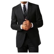 Classic Design Custom Made Charcoal Grey Men Suits, Tailored Business Suit with 2 button, Notch Lapel
