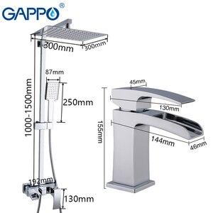 Image 2 - Душевая система GAPPO, латунный настенный смеситель для раковины, хромированный полированный кран