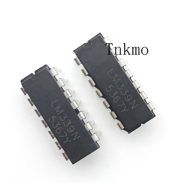 100PCS LM339N DIP 14 LM339 DIP Quad Single Supply Comparators new and original IC