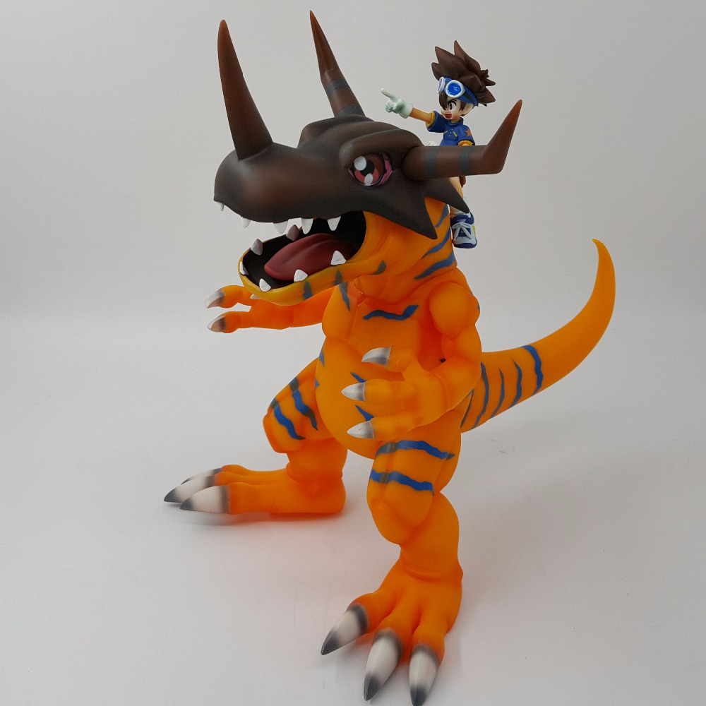Digimon YAGAMI TAICHI Greymon Toys Pvc Action Figures 280mm Anime Digimon Adventure Model Toy Doll