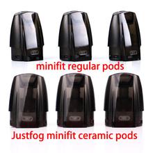 Oryginalny JUSTFOG Minifit Pod 3 jednostki do JUSTFOG minifit zestaw startowy akcesoria do papierosów elektronicznych tanie tanio Electronic 3 5g 1 5ml 21*15*28mm