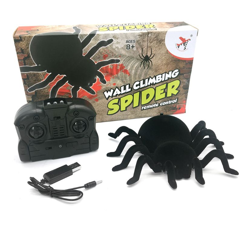 Remote Control Spider Scary Wolf Spider Robot Realistic Novelty Toys Halloween Gifts