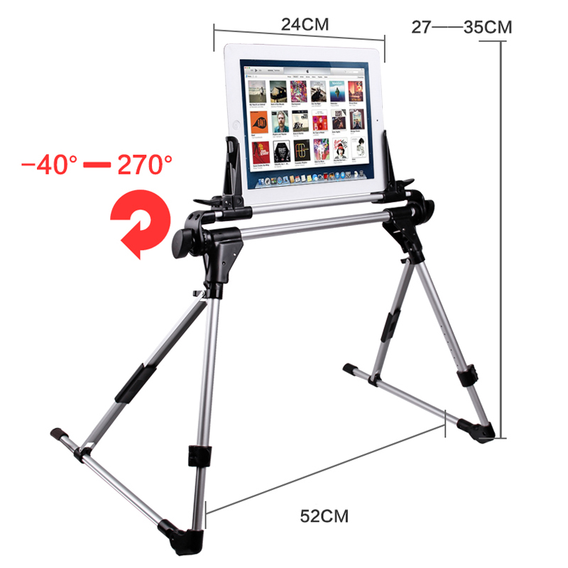 Universal Tablet Bed Frame Holder Stand for iPad 1 2 3 4 5 air iPhone Samsung Galaxy Tab