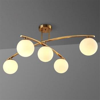 Modern Rotatable Glass Pendant Lights Fixtures Lustre Gold Metal Dining Room Led Pendant Lamps Lighting Luminaria Avize Fixtures