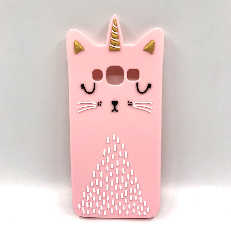 For Samsung J5 Case Cover Silicone For Samsung Galaxy J5 2015 J500F J5008 Cover Cute 3D Cartoon Cats Rabbit Unicorn Phone Cases in Fitted Cases from Cellphones Telecommunications