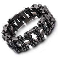 Black men 's bracelet titanium steel punk personalized jewelry jewelry tide boys fashion accessories wholesale