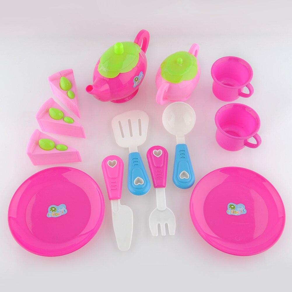 Quality 1 Set Plastic Teapot Pretend Play Toy Set Afternoon Tea Educational Teapot Fun Children Kid Gift