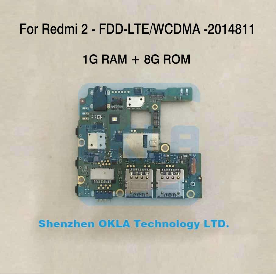 1pcs 2014811 Used Original Motherboard For Xiaomi Redmi 2 Hongmi 3x Ram 32gb Red Mi Wcdma 1g 8gb Rom Mainboard From Phone In Mobile Camera Modules