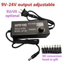 Regulowana moc zasilania 9V 10V 12V 14V 15V 16V 17V 18V 19V 20V 21V 22V 24V 3A 3000mA AC/DC regulowany zasilacz z wyświetlaczem