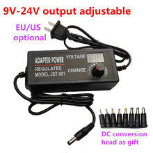 Adjustable Power Supply 9V 10V 12V 14V 15V 16V 17V 18V 19V 20V 21V 22V 24V 3A 3000mA AC/DC Adjustable Power Adapter with display(China)