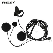 Full Face Moto Motorcycle Bike Helmet Earpiece Headset Mic Microphone For Kenwood Two Way Radio TK3173/TK3200 BAOFENG UV-5R