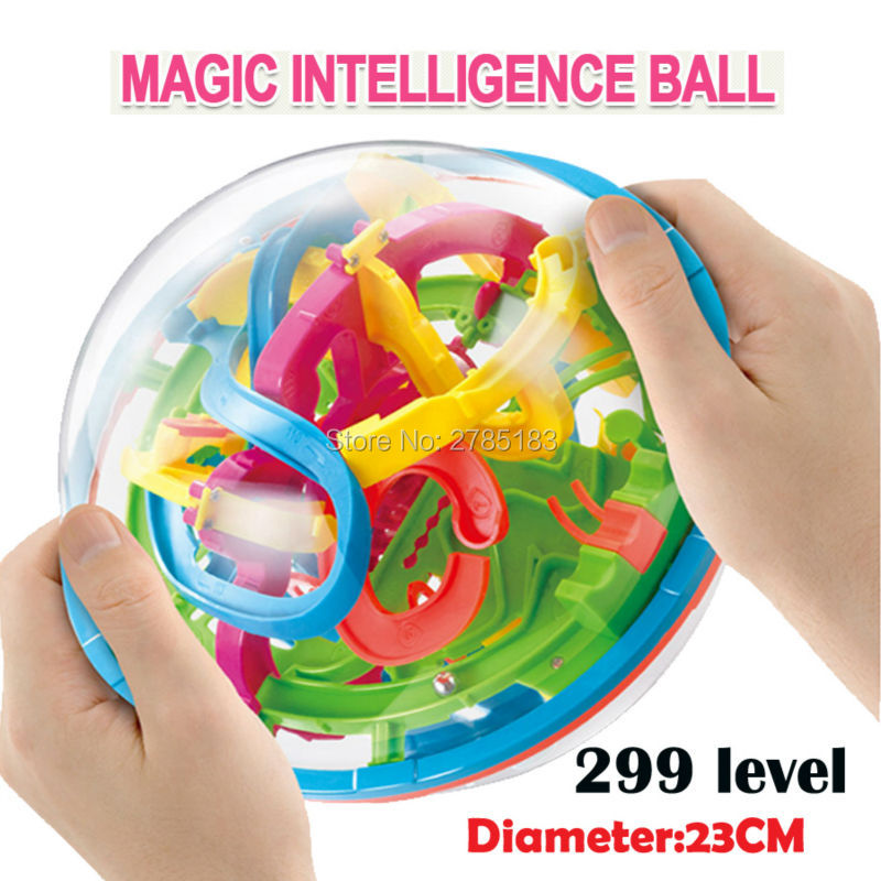 299 niveau 23 cm Biger 3D Magique Labyrinthe Balle perplexus magique intelligence boule jouets éducatifs Marbre Puzzle Game IQ Équilibre jouets