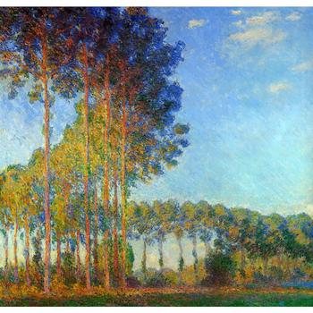 Poplars on the Banks of the River Epte, Seen from the Marsh of Claude Monet art oil paintings Canvas reproduction hand-painted