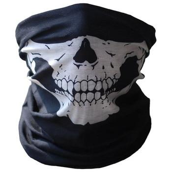 1 pc 새로운 자격을 갖춘 할로윈 파티 다기능 해골 검은 목 무서운 마스크 오토바이 모자를 쓰고 있죠 가면 무도회 au16