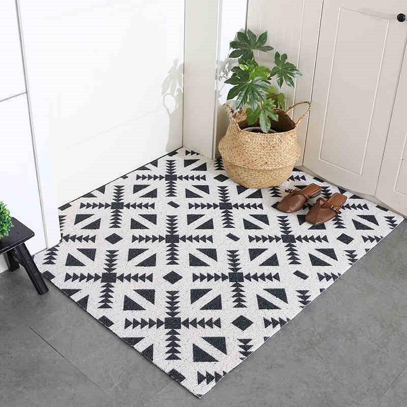 Ins simplicité mode nouveau élastique PVC tapis Pad paillasson cuisine anti-dérapant tapis tapis de bain résistant à l'usure facile à nettoyer décor à la maison