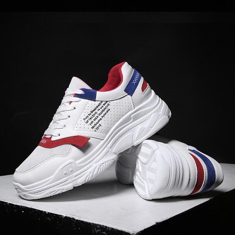 2018 hommes de sport chaussures de course rythme hommes de dentelle espadrilles respirant maille chaussures de sport en plein air lumière mâle chaussures taille UE 39-44