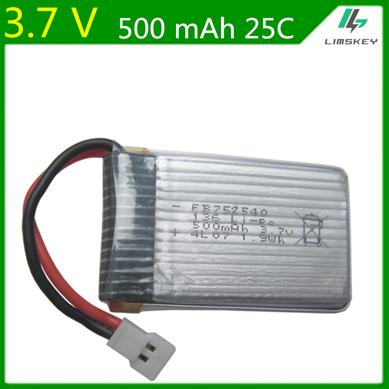 3.7V <font><b>500mAh</b></font> Lipo <font><b>Battery</b></font> For Syma X5C X5SW M68 Cheerson CX-30 H5C Quadrocopter <font><b>3.7</b></font> V 500 mAh Li-po <font><b>battery</b></font> <font><b>3.7</b></font> 752540 image