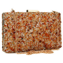 Orange Stone Women Evening Handbag Clutches Purse Lady Diamond Banquet Bag Elegant Female Wedding Party Day Clutch Bags 2019 цены онлайн