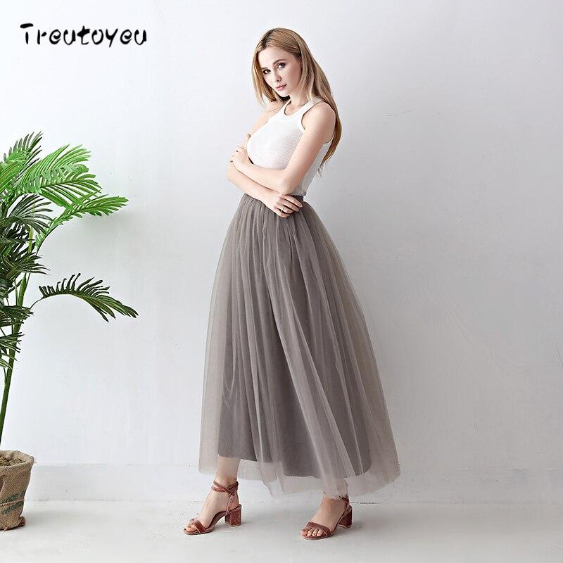 100% Real Photos 5 slāņi 100cm Maxi Long Sieviešu svārki - Sieviešu apģērbs