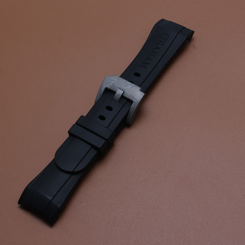 Curved End Common Watchband fashion waterproof Silicone Rubber strap for sport watches men24MM black bracelet  metal Clasp карандаш для губ make up factory make up factory ma120lwmqv71