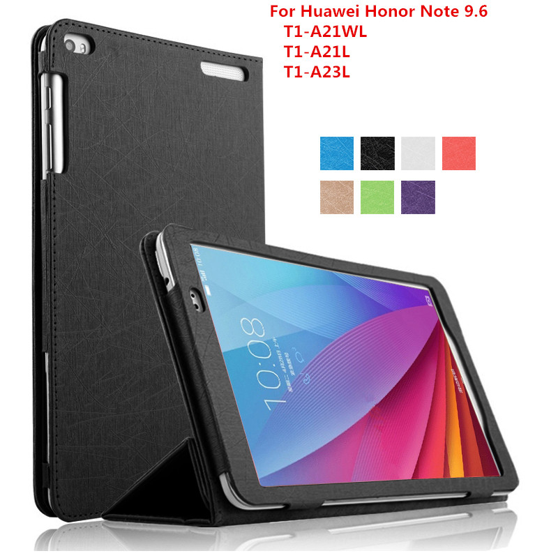 Case For Huawei Mediapad T1 10,Luxury PU Flip leather case For Huawei Honor Note 9.6 T1-A21W T1 10 T1-A21L T1-A23L Case + Stylus проектор sim2 lumis 20 t1 black