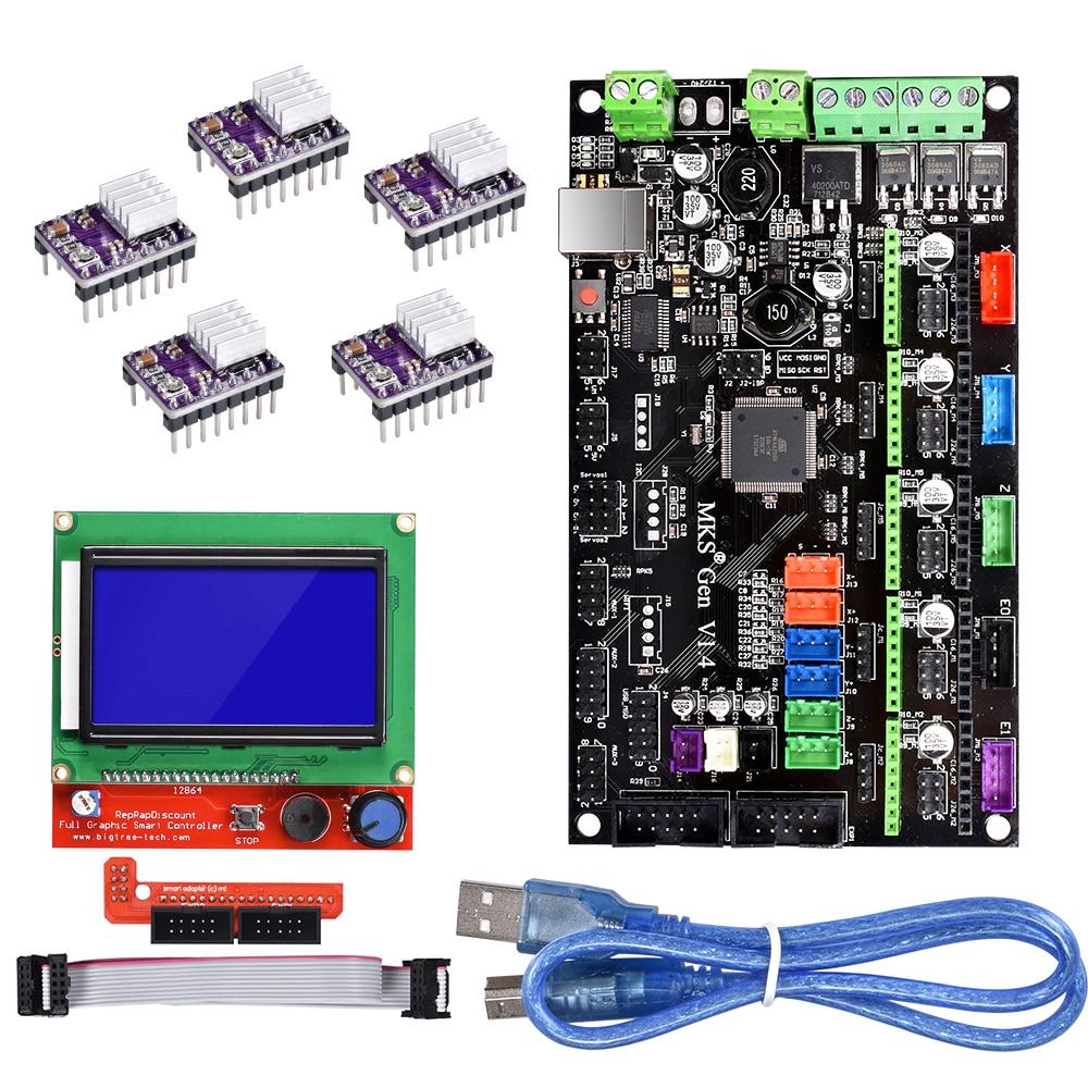 3D Printer Board MKS Gen V1 4 Motherboard Reprap Ramps 1 4 1 5 1 6