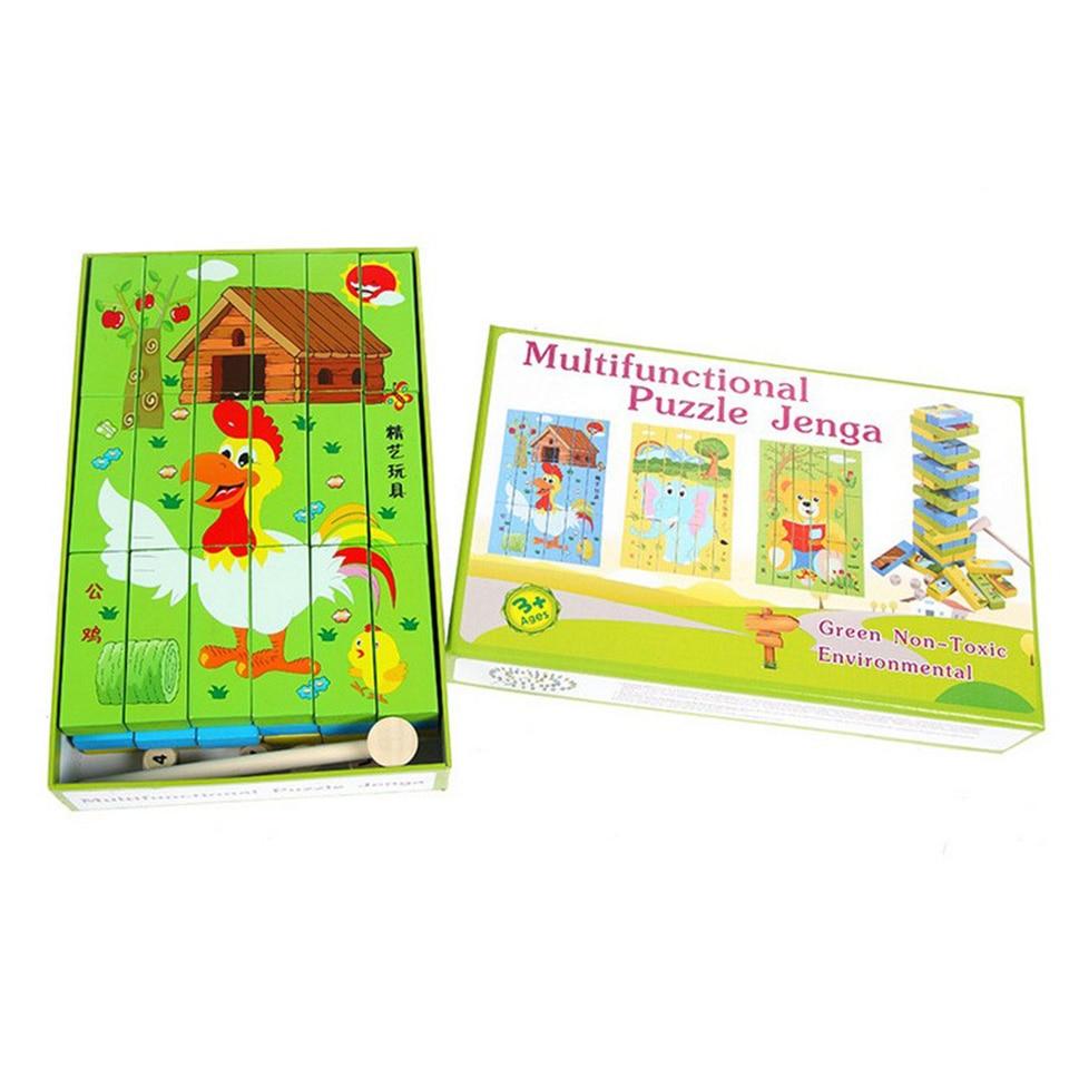 Woodentoys Puzzle jouet Animal Smart board jeux stéréoscopi éducatifs astucieux parentalité opération bébé jouets d'apprentissage précoce