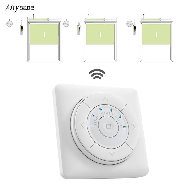 דלת מוסך אלחוטי חכם שלט רחוק 433.92mhz RF משדר קיר הר Switch עבור מוטוריים וילון הבית חכם אוטומציה