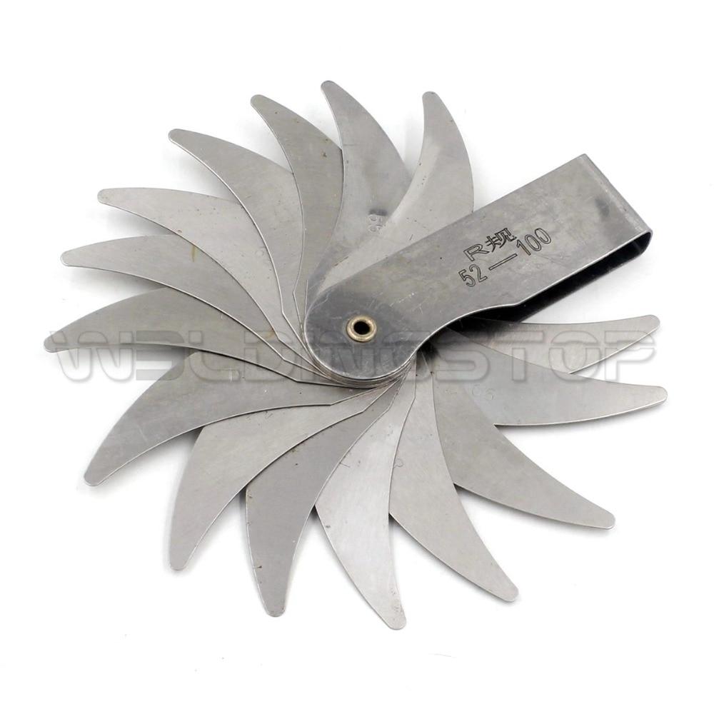 Radius gage Gauge Fillet set R52-100mm Concave Convex arc end internal external