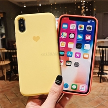 Cute Love Heart silicone case For iphone
