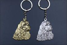 Брелок для ключей кокер спаниель популярный металлический брелок