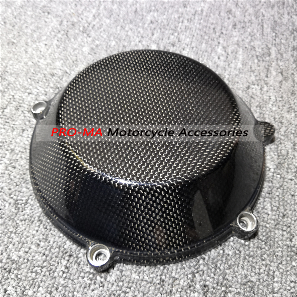 Motorcycle Engine Cover/Dry Clutch Cover In Carbon Fiber For Ducati 848 1098 1198 749 999 Monster Plain Glossy Weave