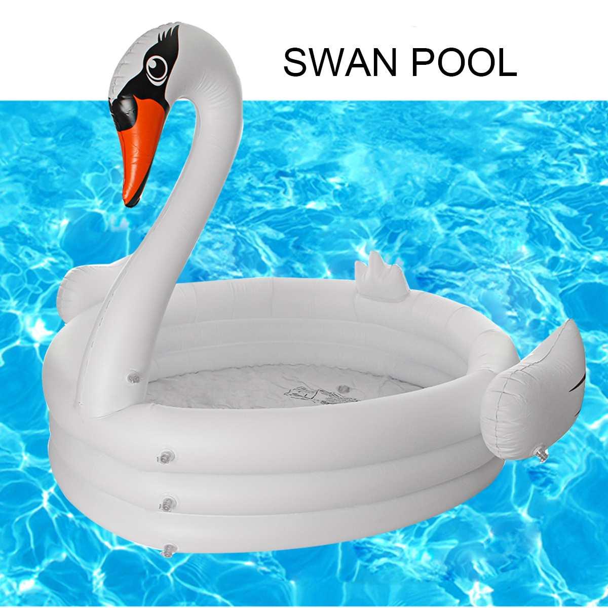 Été cygne piscine gonflable pour adultes bébé enfants pataugeoire piscine baignoire cercles flotteur piscine jouets été chaud