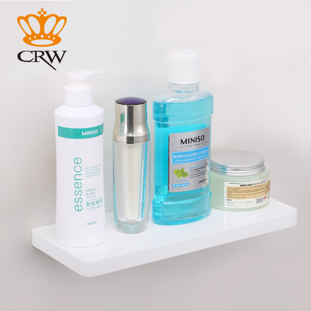 CRW Bathroom Shelf Wall Mounted Brass + Glass Shelf /Towel Shower ...