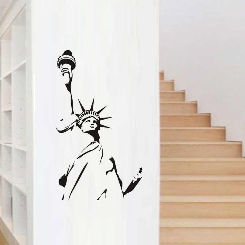 Statue Of Liberty Wall Sticker New York City Symbolic Wall Decal Waterproof Wallstickers Decals Decoration House