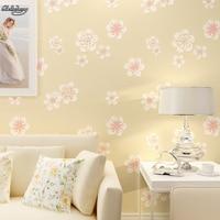 Cozy Garden Flowers Wallpaper Environmental Protection Non Woven Simple Bedroom Living Room Sofa Wallpaper