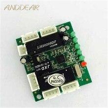 Placa de circuito del interruptor ethernet del diseño del mini módulo OEM para el módulo del interruptor ethernet 10/100 mbps 5/8 Puerto PCBA OEM de la placa base