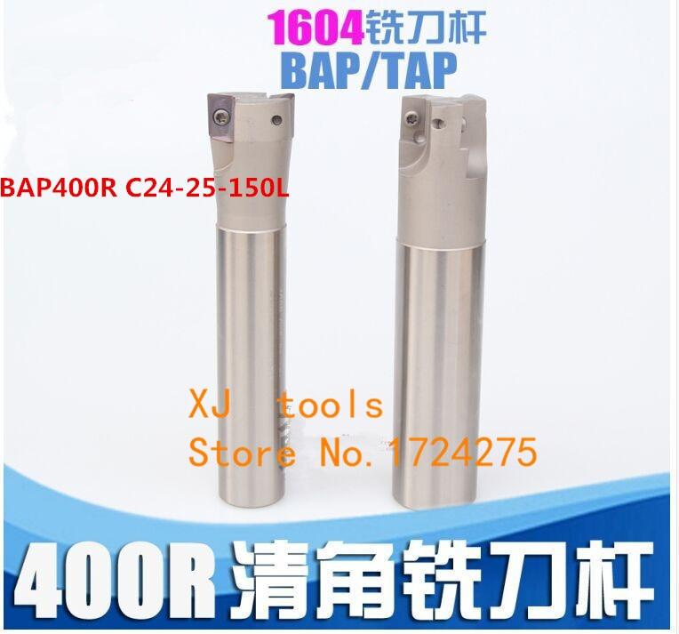 1P 400R-25-150L-C25-2T Indexable End milling Holder+10PCS APMT1604PDER-FM insert