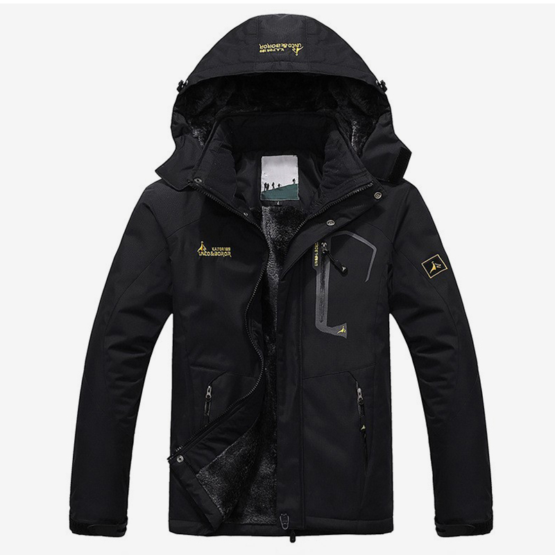Hooded Men's Jacket Coat Waterproof Full Length Black Women Man Couple Jackets Coats 2019 Fashion Zipper Unisex Streetwear Hoody(China)